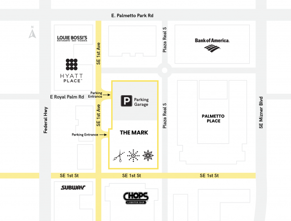 Boca Raton Gym Map